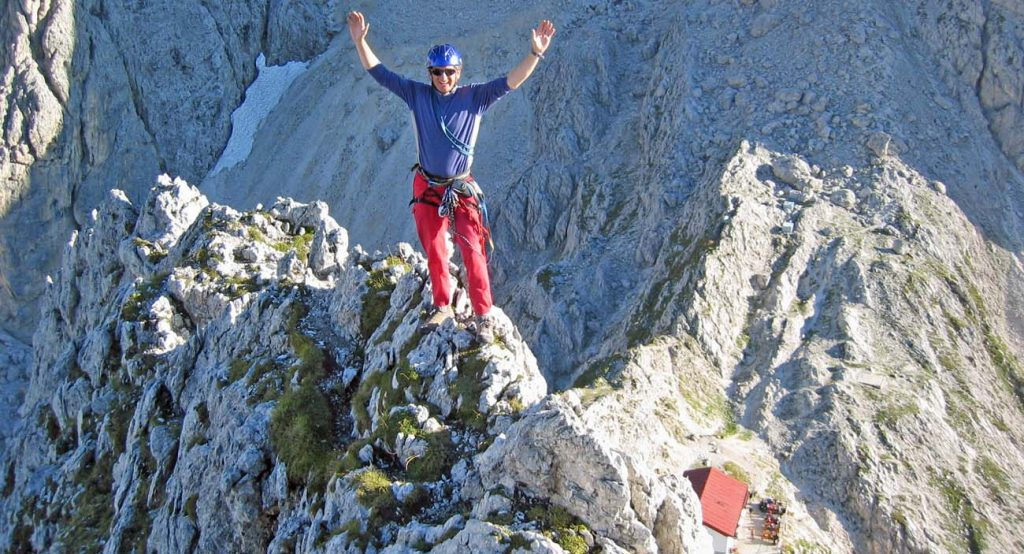 guided dolomites rock climbing ifmga certified mountain